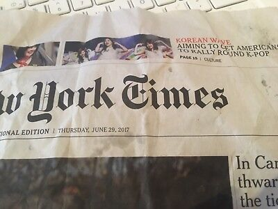 newspaper cutting NYTimes - K-pop BTS Twice NCT 127 *KCON