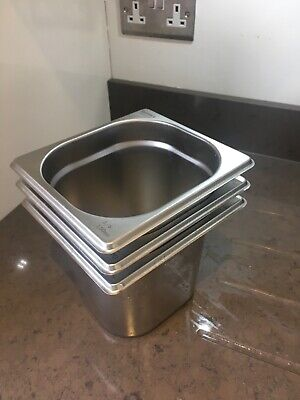 3 x 1/6 Stainless Steel Gastronorm (150mm Depth)