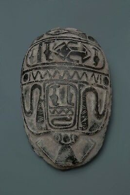 ANCIENT EGYPT EGYPTIAN STATUE Antiques SCARAB BEETLE KHEPRI Carved Stone Vk9 BC
