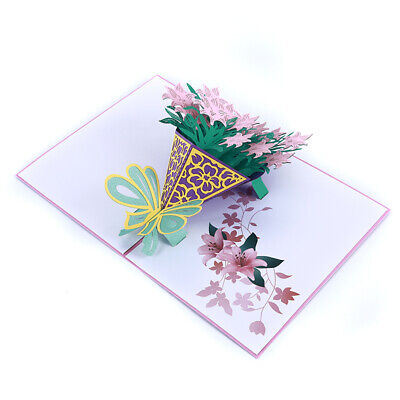 Stereoscopic Greeting Cards Best Wish With Envelope Invitation Wedding Cards BS