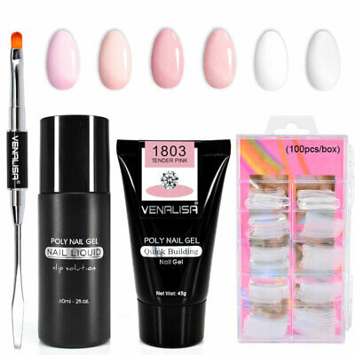 VENALISA Nails Kit Sets Polygel Quick Building Poly Nail Gel Extension UV LED