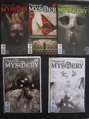 """HOUSE of MYSTERY 1,2,3,4,5 """"LOVE STORIES FOR DEAD PEOPLE"""" COMPLETE STORY.DC,2008"""