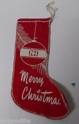 Very Unusual Old Stencil Print Xmas Stocking Used as Mailing Package