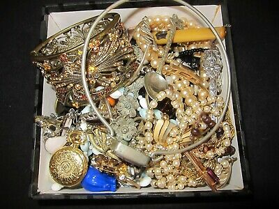 Mixed Lot Antique & Vintage French Jewellery/ over 1 kilo