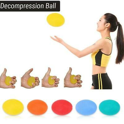 1X Egg Stress Ball Hand Finger Exercise Stress Relief Ball Toy Autism Squeeze