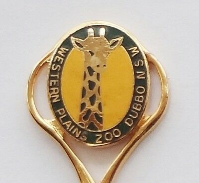 Collector Souvenir Spoon Australia Dubbo Taronga Western Plains Zoo Giraffe