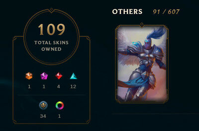 LEAGUE OF LEGENDS EUW Account---Silver Kayle-6 Victorious Skins- 109 Skins