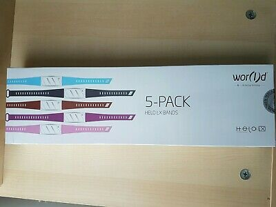 Helo LX Bands 5-Pack Multi Color World Smartband Fit NEW Open Box