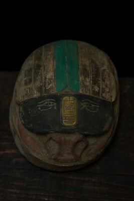 ANCIENT EGYPT EGYPTIAN ANTIQUES Scarab Beetle Hieroglyph Stela Carved Stone BCE