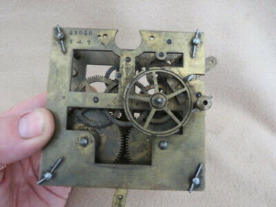 Small Antique German Striking Clock Movement For Spares Or Repair