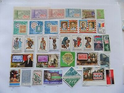 African Coll'n of stamps off paper -2-16-incl. (4) mnh Guinea # 394-6,C75