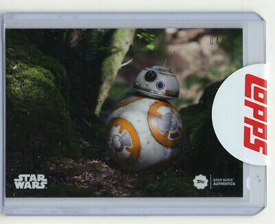 2019 Topps Star Wars Authentics Brian Herring As BB-8 04/75 Card