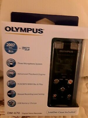 Olympus DM-670 digital voice recorder NEW BOXED