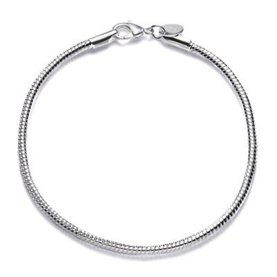 3mm Snake Chain Adjustable Women Lady Silver Bangle Bracelets Jewelry Holiday