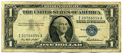 1957 Silver Certificate Us Paper Money One Dollar Bill Ia20766054A $1 Note #3578
