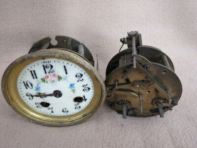 X 2 Antique French Striking Clock Movements For Spares (Lot 2)