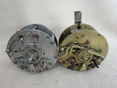 X 2 Antique French Striking Clock Movements For Spares (Lot 3)
