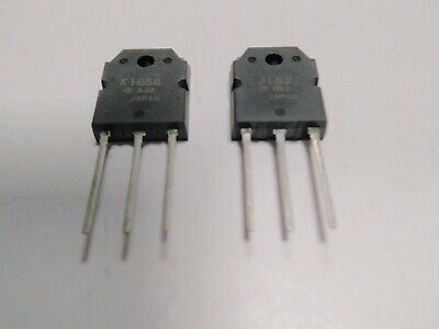 2SJ162 + 2SK1058  TRANSISTOR TO-3P (PAIRE) made in japan