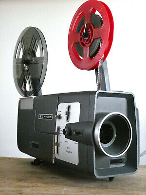 SUPERB Chinon Dual Format 8mm Cine Projector BOXED Guaranteed WORKING