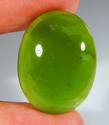 28 Ct Top Natural Green Emerald Color Serpentine Jade Oval Cabochon Gemstone A14