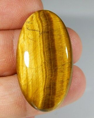 37 Ct 100% Natural Top Quality Golden Fire Tiger Eye Oval Cabochon Gemstone A157