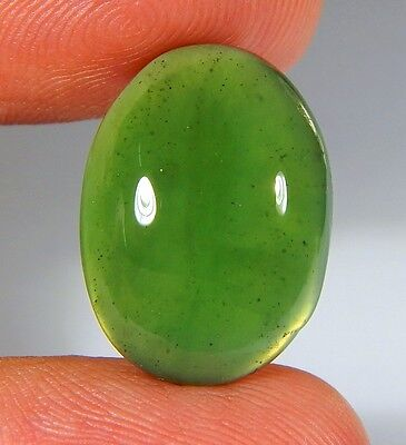 11 Ct Natural Ring Size Deep Green Serpentine  Jade Oval  Cabochon  Gemstone A80