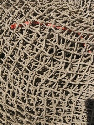 10'x10' Authentic Heavy Reclaimed Knotted Fishing Net Tiki Hut & Nautical Decor