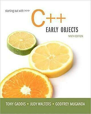 PDF Starting Out with C++ Early Objects 9th Edition by Tony Gaddis Fast Delivry