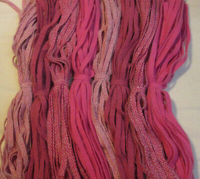 Pretty Pinks & Roses 200 Hand and Mill dyed  #8 Rug Hooking Wool Strips