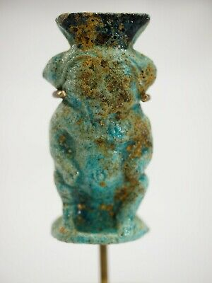 Ancient Egyptian faience figure of God Bes 18th Dynasty 1390-1292 B.C