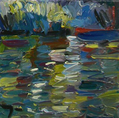 JOSE TRUJILLO Water Reflections Marsh OIL PAINTING IMPRESSIONISM CONTEMPORARY