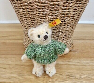 +TEDDY CLOTHES+ hand knitted jumper for a miniature 10cm Steiff bear or similar