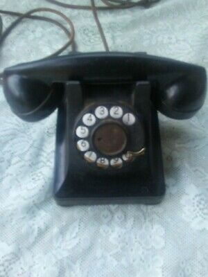 Rotary Desk Phone Model 302 Western Electric,Black.Dated 1946