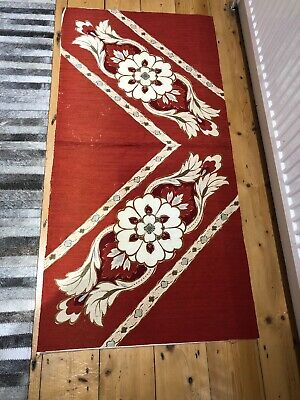 True Vintage Japanese Panel Of Silk Fabric Purchased In Japan 1960s