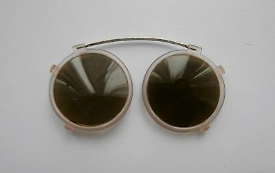 BNWOT Vintage 1920's Round Brown Lens Sun Shades Sunglasses Pince-Nez  Deadstock