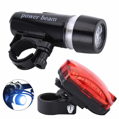 LED Waterproof Bike Bicycle Cycling Front And Rear Tail Light Set Super Bright