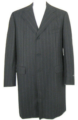 NEW $2895 Isaia Wool & Cashmere Overcoat!  e 60 L 48 L  Charcoal Heather Flannel