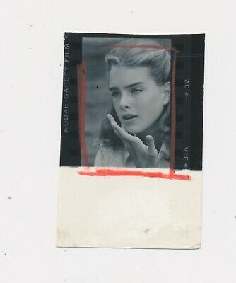 Very Early Proof Sheet Snap Brooke Shields back when she was a Teenager