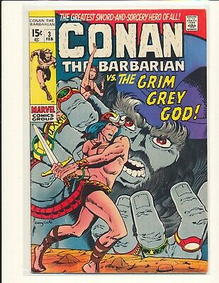 Conan The Barbarian # 3 low distribution Barry Windsor-Smith cover/art VG+ Cond.