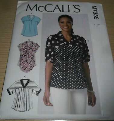 8ebb67c57ac MCCALL S PATTERN M7359 ~ Misses  V-Neck Dolman Sleeve Tops ~ Size Y ...