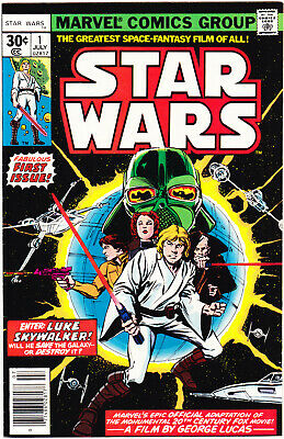 Star Wars 1 VFNM (9.0) KEY Comic 1977 First Printing Book Marvel Comics