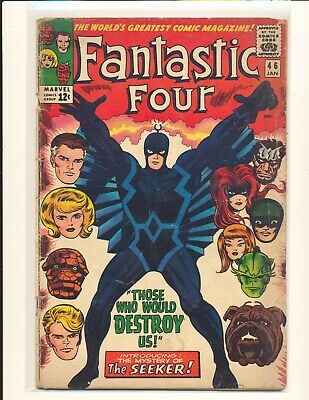 Fantastic Four # 46 Fair Cond. writing inside front cover water damage