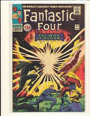 Fantastic Four # 53 - 2nd Black Panther Fine+ Cond. price sticker on cover