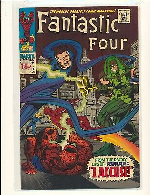 Fantastic Four # 65 - 1st Ronan The Accuser VG/Fine Cond. price sticker on cover