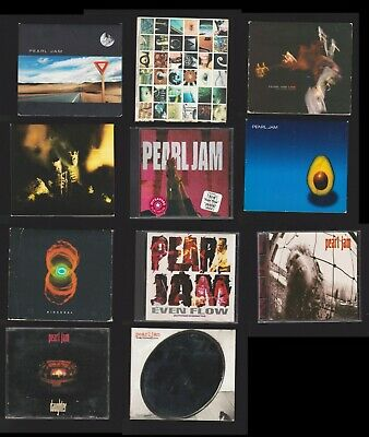 Pearl Jam 12 CD Lot:(S/T)/Ten/Live/Riot Act/Vs/EvenFlow/Rearviewmirror/Binaual