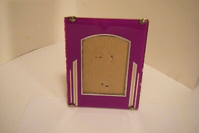 Picture Frames Art Deco Reverse Painted Glass Picture Frame Maria Olszewska Opera Photo 1928-32