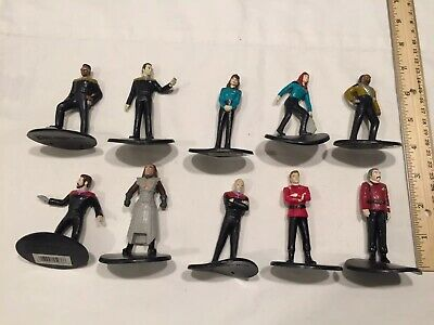 Nice Lot of 10 Star Trek PVC Figures or Cake Toppers 1994 Applause Rare