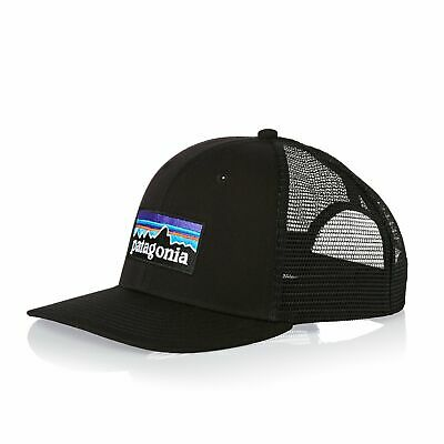 5ce36e6be477 Patagonia P-6 Trucker Homme Couvre-chefs Casquette - Black Une Taille