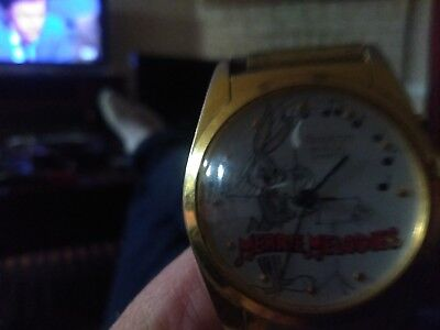 Vintage 1994 New Looney Tunes Merrie Melody Warner Bros.armitron Watch..