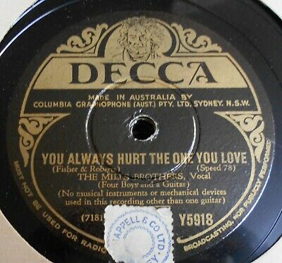 10 great Mills Brothers 78s